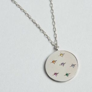 Popsugar TAI Jewelry Silver Medallion Circle Penda